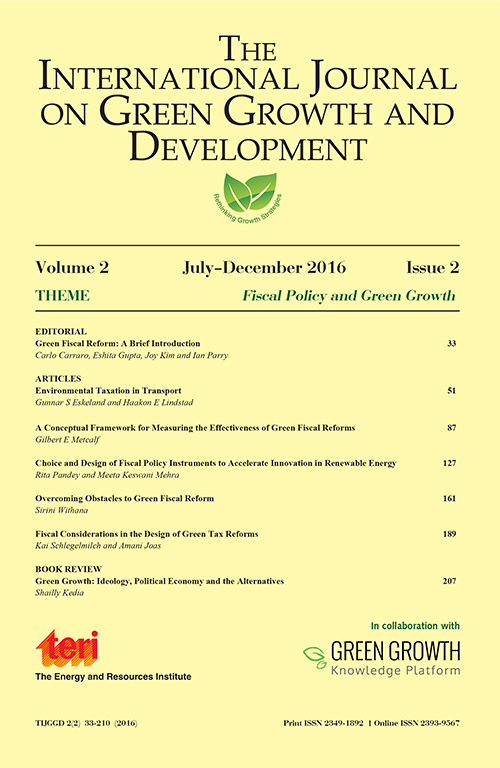 The International Journal on Green Growth and Development